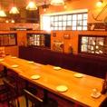 広々としたテーブル席をご用意。人数に合わせて移動などもご対応しますので、お食事会・宴会などにも安心してご利用いただけます♪