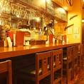 お1人様やカップルでのご来店に最適なカウンター席★今宵は大人な気分で、当店の美味しいお肉とお酒をご堪能ください。