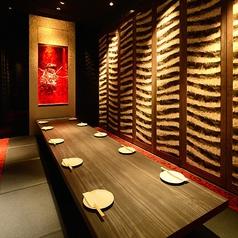 《掘りごたつ個室≪8~12名様用》数々の有名店を手がけてきた空間デザイナーがプロデュースしたお洒落な店内☆2~6,7~12,13~24,25~50名様各種完全個室有り。最大250様宴会可能です☆