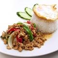 料理メニュー写真鶏挽肉バジル炒めのせご飯 ~ガパオ・ガイ~ ※豚挽肉も出来ます!