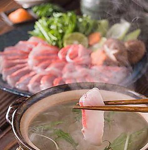 寒い時期はやっぱりお鍋!鍋魚三昧コース4,500円(税込)