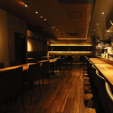 最高級松阪牛&厳選素材を鉄板焼きで!大人の隠れ家空間。
