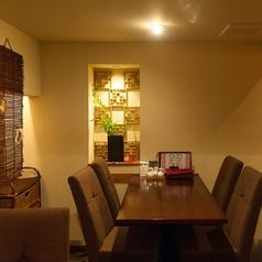 落ち着いた雰囲気の半個室スペース!