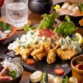 ▼大山地鶏を手軽に味わえるお手軽プラン【華コース】2.5H飲み放題&8品 2480円