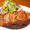 ランチ:豚肩ロース肉のジャンボステーキ