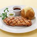 料理メニュー写真みつせ鶏 もも肉のグリル 柚子胡椒添え