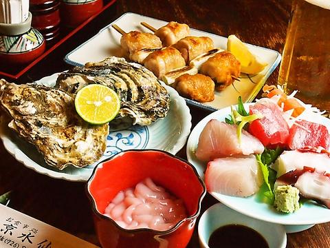 京都で培った腕を振るった上品で奥深い料理の数々。新鮮な魚介類が堪能できるお店。