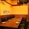 大人数でご利用頂けるテーブル席を当店はご用意しております!親戚同士のちょっとしたお食事会や、二次会などにご利用してみてはいかがでしょうか。21時半以降では【21時半以降限定】2時間飲み放題付きの二次会コース3,000円をご提供しております!