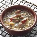 料理メニュー写真砂肝と心のアヒージョ