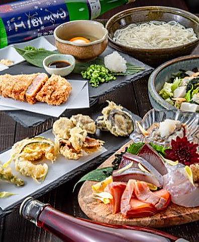 【名物♪】芳寿豚ひと口カツと新鮮お造りを堪能!大皿6品コース◆4400円(税込)