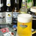 料理メニュー写真ビール類もハイネケンやギネスにレモンビールなど楽しめます!