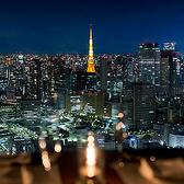 地上221メートルの大きな窓から見える夜景