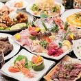 『どうせならちょっと豪華な宴会に』なんてお考えの方にはこちらのコース!獲れたて新鮮な旬魚を贅沢に使用したお刺身盛合せやカレーやせんべいなど個性豊かな味が楽しめる名物唐揚げ、シェフ特製の秘伝ダレで豪快焼き上げる黒豚スペアリブなど、一手間二手間かけたお料理がずらりと並びます!