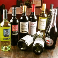 ワインの種類豊富♪