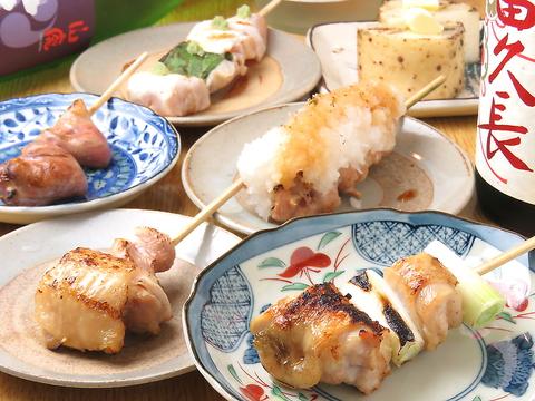 《贅沢コース》焼き鳥や豚巻き野菜串など14品+120分[飲放]⇒5500円(税込)