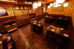 二階席のテーブル席とお座敷を合わせて最大50名様の貸切も可能です!お問い合わせください!
