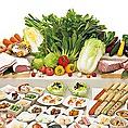 ★イタリア豚・国産鶏しゃぶ食べ放題コース 2680円(税抜)★お肉は、ドルチェポルコ・豚カルビ/肩ロース・桜姫・鶏しゃぶの3種類が食べ放題。すべてのお料理をテーブルへお持ち致します。