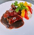 料理メニュー写真北海道産黒毛和牛A5サーロインステーキ ~3種類のソースからお選び下さい~
