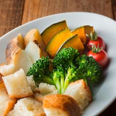 料理メニュー写真チーズフォンデュ 野菜セット