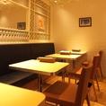 横並びのソファ&テーブル席