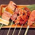 料理メニュー写真串焼き盛り合わせ(5本)