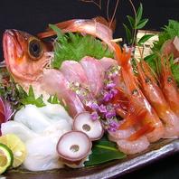 本日の鮮魚の盛り合わせ3点盛り1200円!