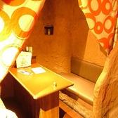 5名様まで入れます!!洞窟の個室は4部屋しか有りません。他では味わえない空間。友達、恋人の距離が縮むのは間違いありません