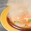 料理メニュー写真いくら、サーモン、貝柱の北海カルパッチョ