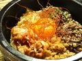 料理メニュー写真◆韓国のりネギ飯 500円 ◆そぼろ飯 650円 ◆石焼ビビンバ 800円 ◆石焼チーズビビンバ 850円