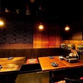 和の雰囲気が特徴のゆったり座れるテーブル席。ゆっくりお食事をお楽しみいただけます。お子様連れも◎