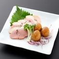 料理メニュー写真合鴨とうずら卵の燻製