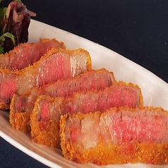 牛肉(サーロイン)のレアカツ