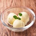 料理メニュー写真プレミアムバニラアイスクリーム