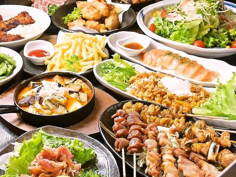 備長炭で焼く炭火焼鳥を味わえるお店、飲放付きコースは3000円~♪宴会は36名までOK!