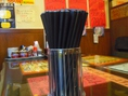 お箸は使い捨てではなく、エコ箸を使用。ラーメンだけではなく箸にもこだわりが。環境に配慮した優しい店。