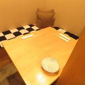 半個室のお席となっております。大変人気のお席となっておりますので、ご予約必須でございます。