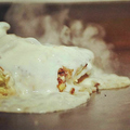 料理メニュー写真《人気NO1!》白いお好み焼き(ソースorしょうゆ)⇒特製ホワイトソースを贅沢にトッピング