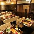 オープンスペースで気軽に会食。最大30名の貸切もok♪テーブルは動かせますのでレイアウトは思いのまま!!お昼はなんとキッズスペース付きのお席に変化します♪