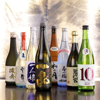 日本酒にこだわり!