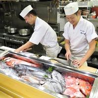 寿司職人の握る『旬』の魚介を使った握りをご堪能下さい