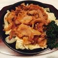 料理メニュー写真豚バラ肉の生姜焼き