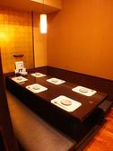 6名様掘りごたつ個室。接待やおもてなしにもどうぞ・・・
