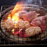 様々な鶏の種類や部位を楽しめる鶏焼肉