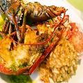 料理メニュー写真オマール海老のリゾット添え