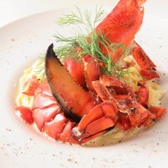 カナダ産オマール海老のフレッシュトマトクリームスパゲティ