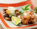 料理メニュー写真焼蛤と炙り穴子