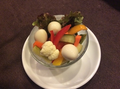 野菜とうずら卵のピクルス