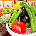 旬の野菜もご堪能ください。ヘルシーで女子にも大好評です♪