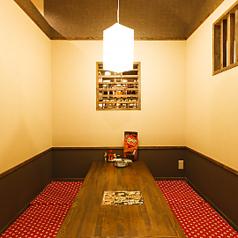 最大6名様でご利用頂ける個室は少人数の方にオススメです!