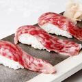 料理メニュー写真近江牛の炙り寿司